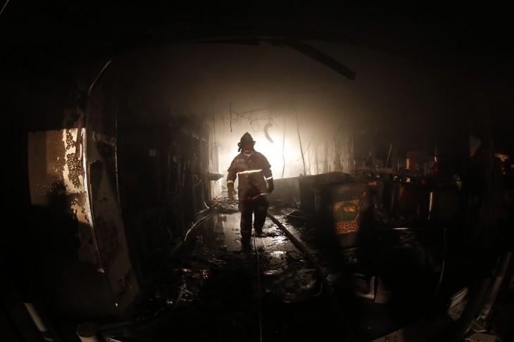 Sucursal Entel quemada | Mario Dávila | Agencia Uno