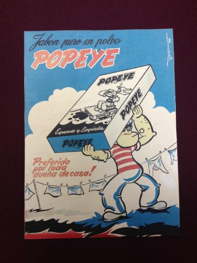 Afiche Jabón Popeye 1960