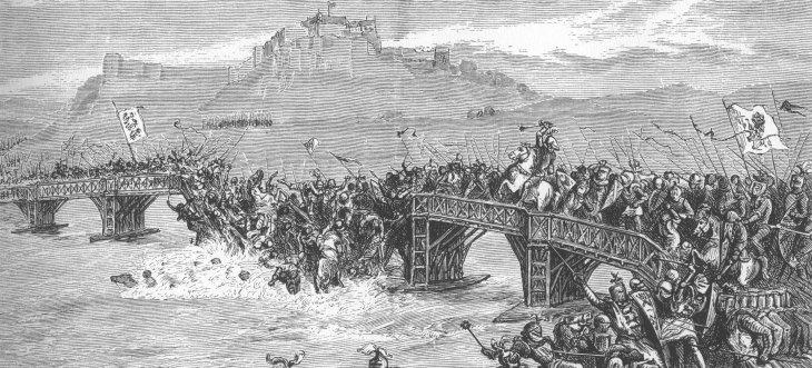 «The Battle of Stirling Bridge» de Desconocido - C Hanley, History Of Scotland  | Wikimedia (CC)