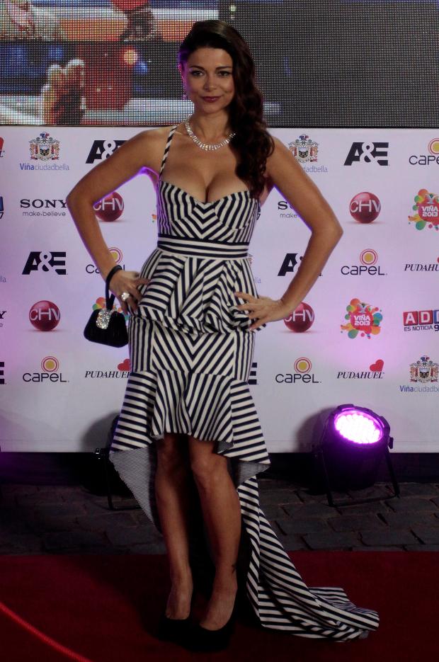 Antonella Ríos usó este vestido de Matías Hernán en 2014 | Agencia UNO