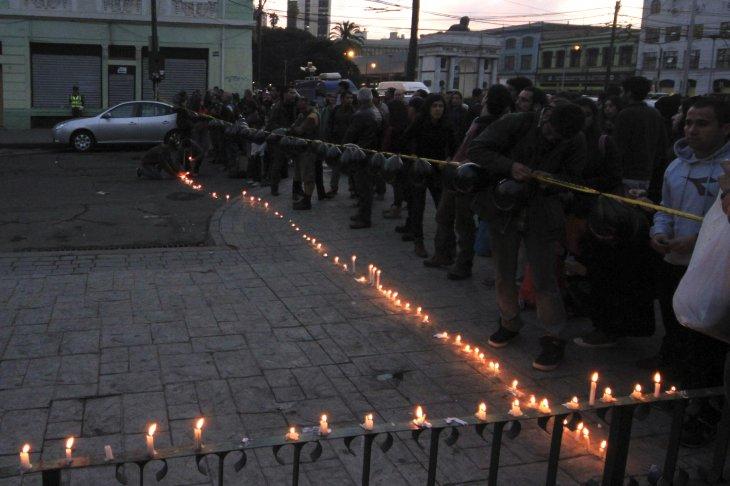 Velatón en Valparaíso | Agencia UNO