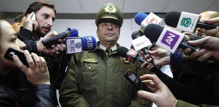 El general Ricardo Cartagena a la prensa | Cristobal Escobar / Agencia UNO