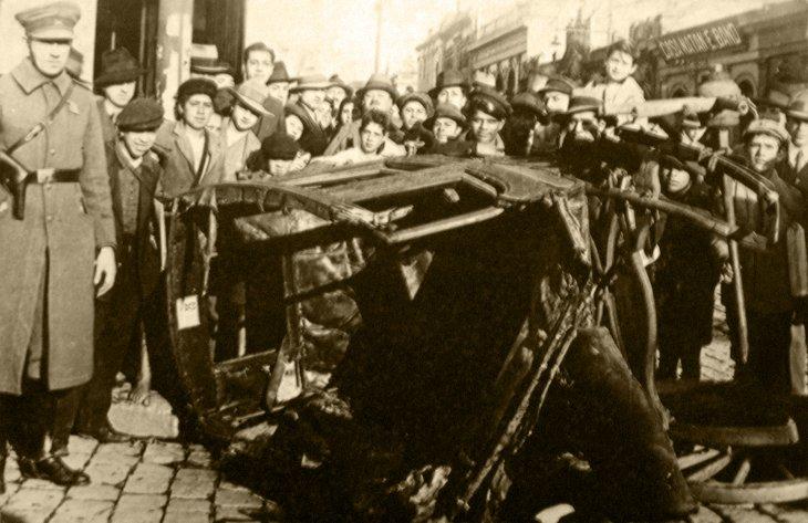 Accidente de tránsito | Carretas, carros de sangre y tranvías en Concepción