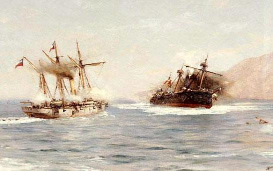 Ilustración del Combate de Punta Gruesa | MAV