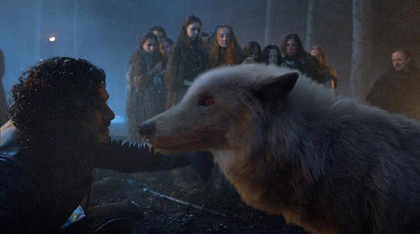 Jon Nieve y Fantasma | HBO