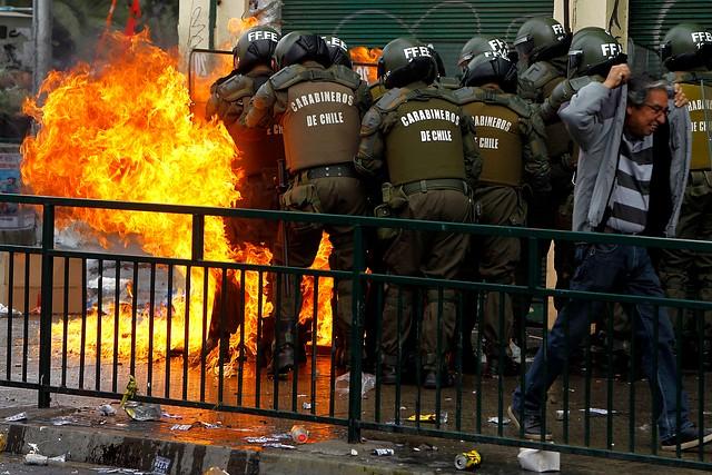 Incidentes en marcha paralela | Agencia Uno