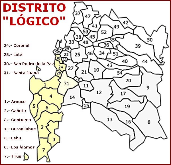 Mapa, gentileza de Centro de Estudios PROJECTA (www.estudiosprojecta.cl )