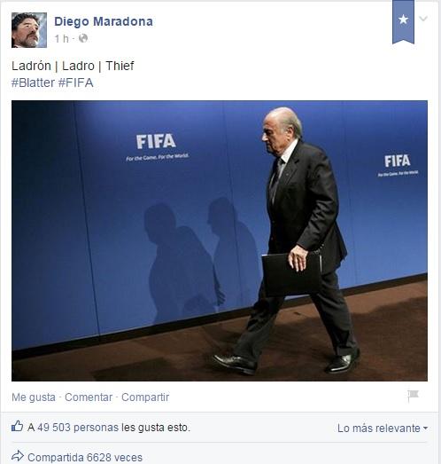 Facebook Diego Maradona