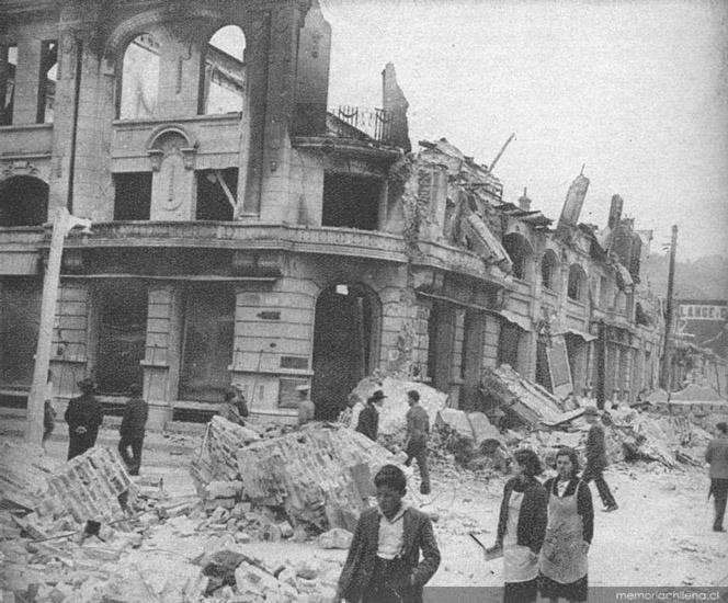 Calle Lincoyán después terremoto de 1939 | Biblioteca Nacional de Chile | www.memoriachilena.cl