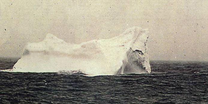 Posible iceberg que habría impactado al Titanic