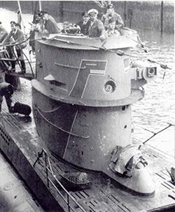 Submarino U-404 que torpedeó al Toltén