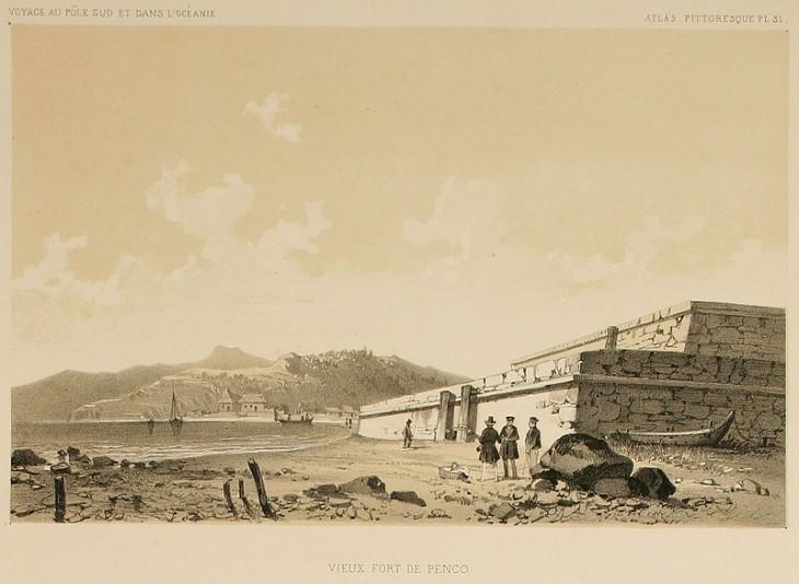 Fuerte La Planchada de Penco | Ilustración 1846