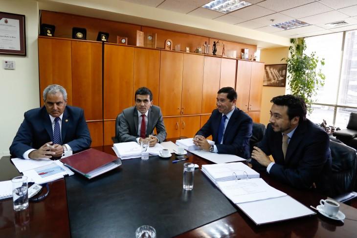 De izquierda a derecha: Chahuán, Gajardo, Norambuena y Arias | Francisco Flores | Agencia Uno