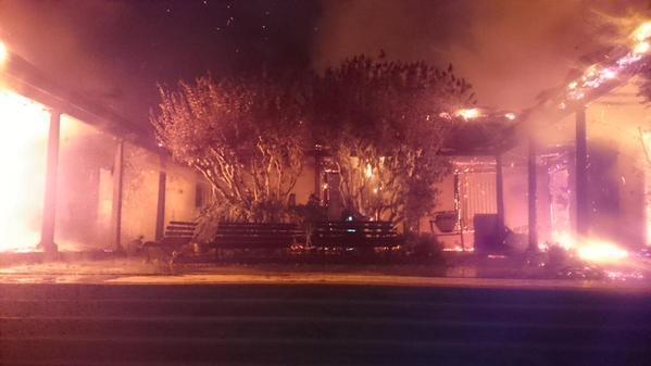 El incendio consumió el inmueble en cosa de minutos |Diario El Día / Bomberos