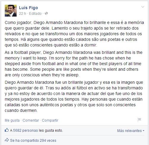 Luis Figo | Oficial Facebook