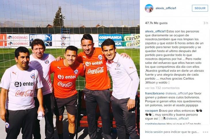 Instagram Alexis Sánchez