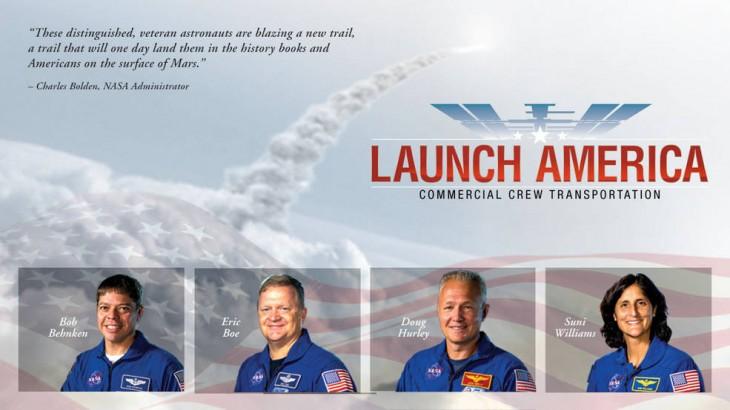 Imagen de la NASA anunciando a los astronautas