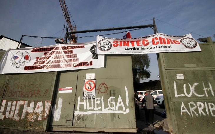 Huelga en construcción de Línea 3 | Pedro Cerda | Agencia Uno