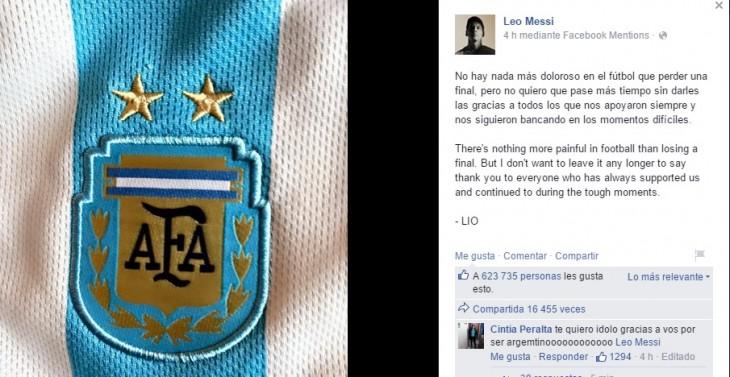 Leo Messi | Facebook Oficial