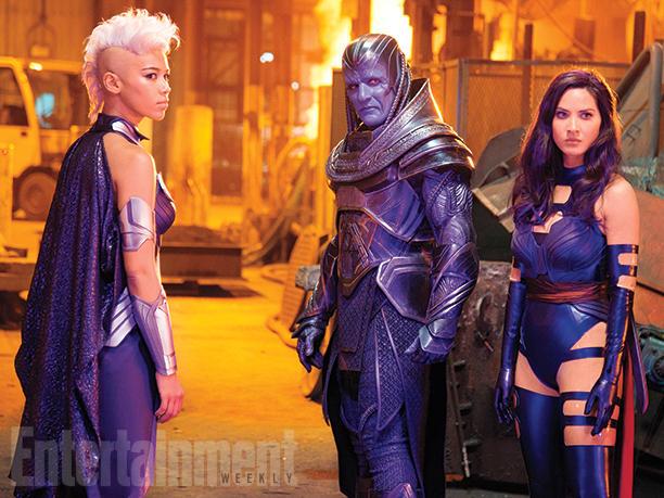 Storm junto a Apocalypse y Psylocke   EW / 20th Century Fox