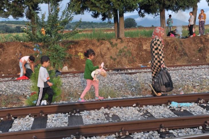 Migrantes en Macedonia | AFP