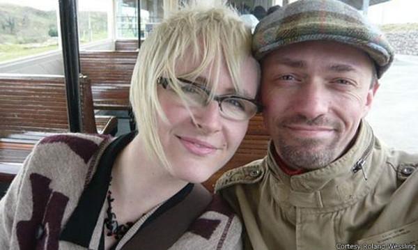 Roland y Hazel antes del accidente