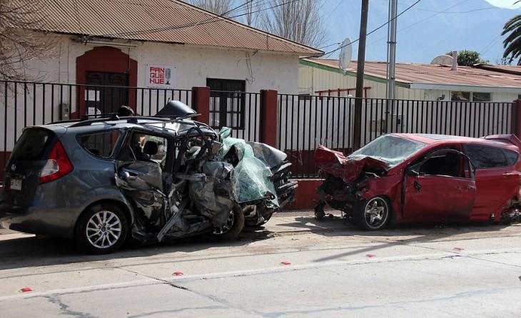 A la izquierda el auto de Javier Muñoz | Gonzalo López | Agencia UNO