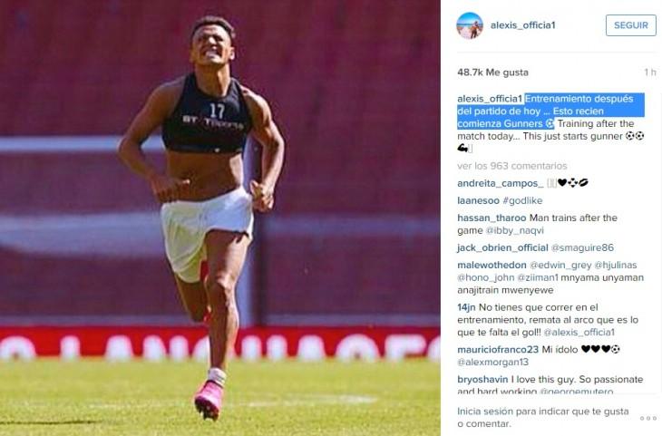 Alexis Sánchez | Instagram