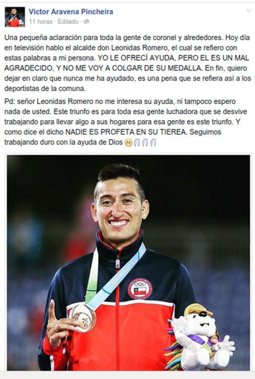 Víctor Aravena Pincheira | Facebook Oficial