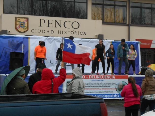 Apoyo a Pablo, joven quemado en Hualpen | selin a monsalve n