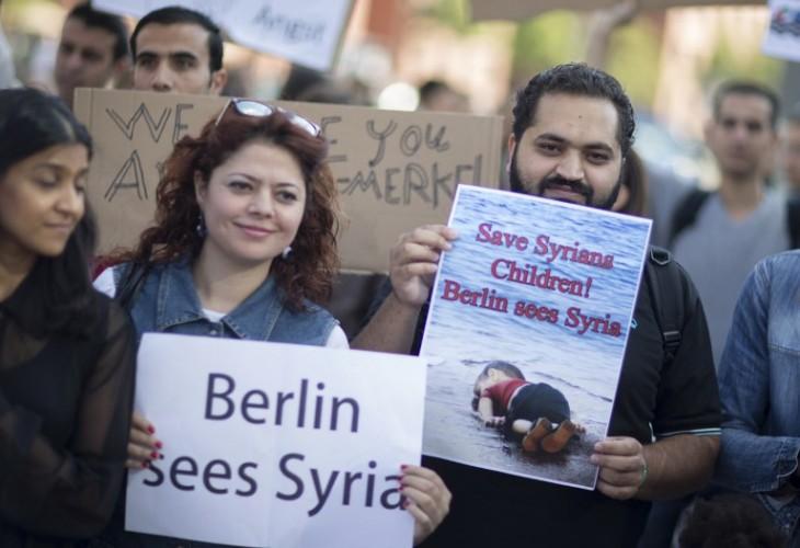 Manifestación en apoyo a migrantes en Berlín | AFP