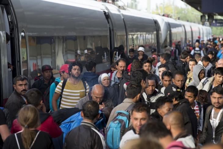 Migrantes en la estación de Múnich | AFP