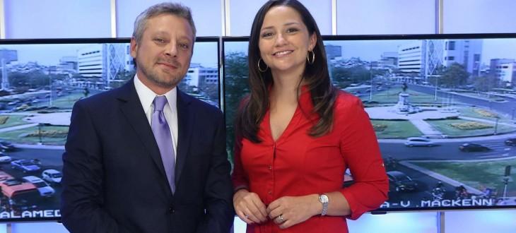 Juan Manuel Astorga junto a Andrea Aristegui | TVN