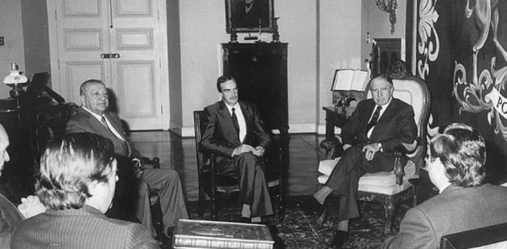 Anacleto Angelini reunido con Augusto Pinochet