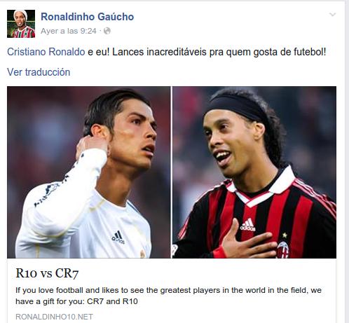 Ronaldinho I Facebook
