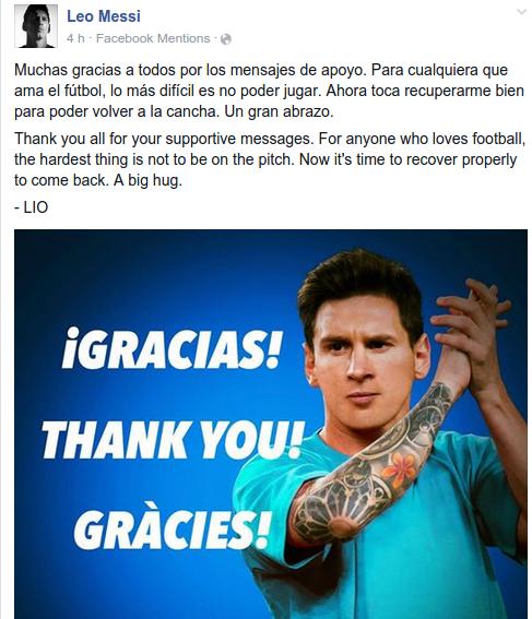 Leo Messi I Facebook