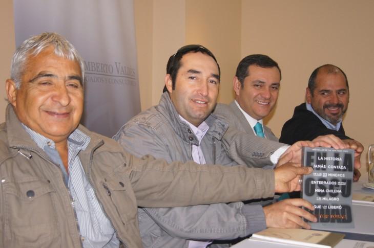 Omar Raigadas, Carlos Barrios, Remberto Valdés y Mario Sepúlveda