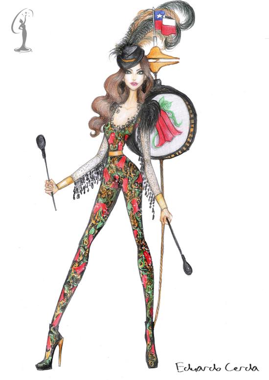 El traje típico | Miss Universo Chile.