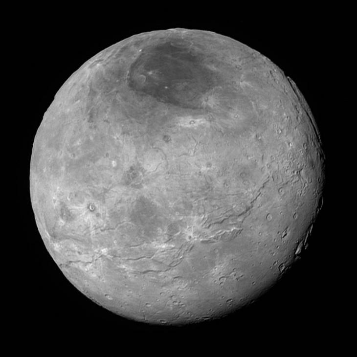 El satelite natural de Plutón, Caronte   NASA