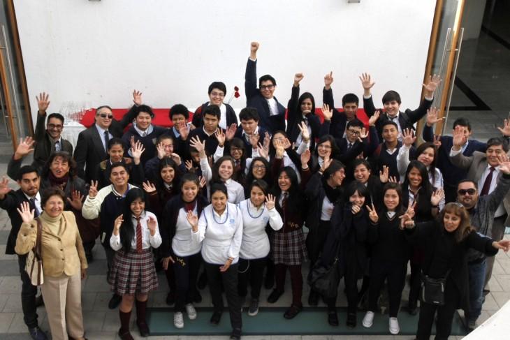 Algunos alumnos seleccionados para SACO4