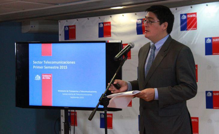 El subsecretario de Telecomunicacion, Pedro Huichalaf   Subtel