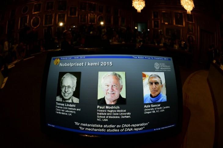 Los científicos premiados al Nobel de Química | AFP