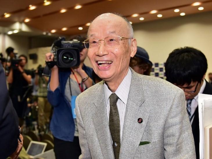 Satoshi Omura, uno de los premiados | AFP