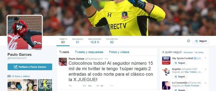 Paulo Garcés | Twitter