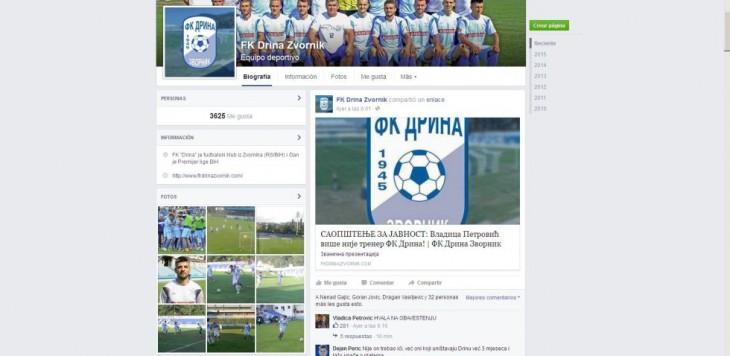 FK Drina Zvornic I Facebook