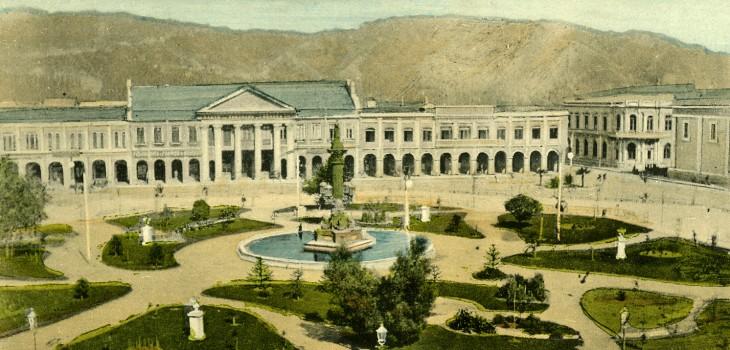 Plaza Independencia de Concepción en 1879... 6 años antes de Marty McFly