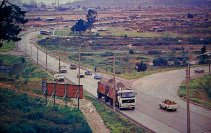 Autopista Concepción-Talcahuano, previo al Trébol y Mall del mismo nombre