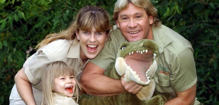 Terri, Bindi y Stephen Irwin