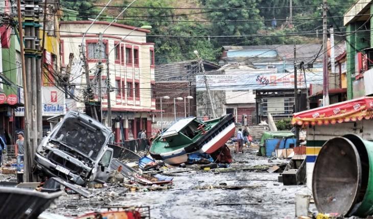 Tsunami en Talcahuano | Martin Bernetti | Agencia AFP