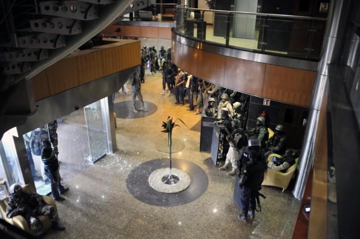 El Hotel Radisson Blu después del asalto | AFP